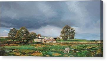 Old Farm - Monyash - Derbyshire Canvas Print by Trevor Neal