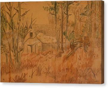 Old Farm Canvas Print by Carman Turner