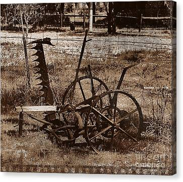 Canvas Print featuring the photograph Old Farm Equipment by Blair Stuart
