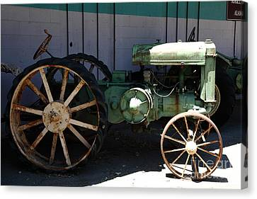 Old Farm Tractor . 5d16619 Canvas Print by Wingsdomain Art and Photography