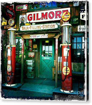 Old Fashioned Filling Station Canvas Print by Nina Prommer