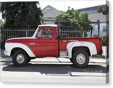 Old Ford 100 Truck . 5d16794 Canvas Print by Wingsdomain Art and Photography