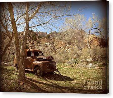 Canvas Print featuring the photograph Old Ford by Tanya  Searcy