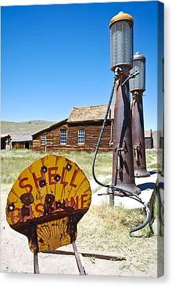 Old Gas Pumps Canvas Print