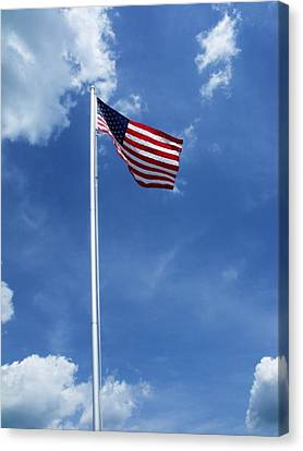 Old Glory Canvas Print by Anna Villarreal Garbis