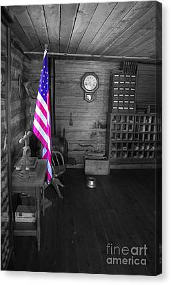 Canvas Print featuring the photograph Old Glory by Deniece Platt