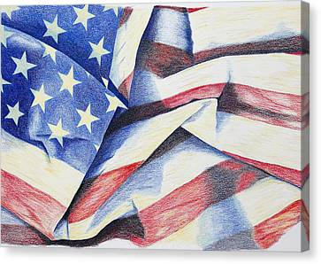Old Glory Canvas Print by Garry McMichael