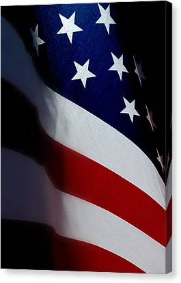 Old Glory - The Flag Of A Proud Country Canvas Print by Steven Milner