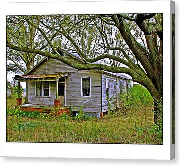 Old Gray House Canvas Print by Judi Bagwell