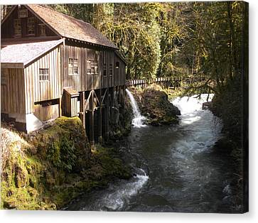 Old Grist Mill Canvas Print by Garry Kaylor