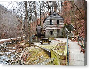 Old Grist Mill Canvas Print by Paul Mashburn