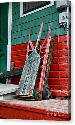 Old Hand Trucks Canvas Print by Paul Ward