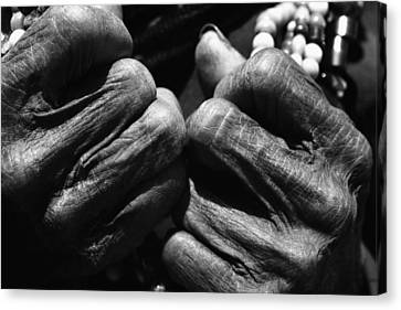 Old Hands 2 Canvas Print by Skip Nall