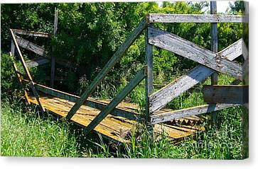 Canvas Print featuring the photograph Old Hayrack by Jim Sauchyn