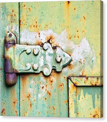 Industrial Background Canvas Print - Old Hinge by Tom Gowanlock