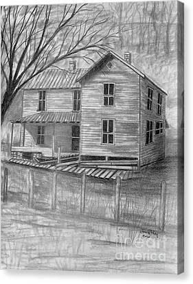 Old Homeplace Canvas Print by Julie Brugh Riffey