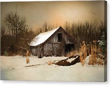 Old Homestead Barn Canvas Print by Mary Timman