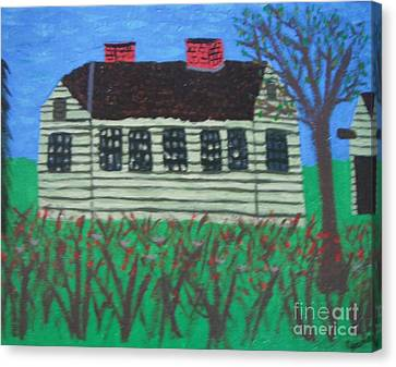Old Homestead Canvas Print by Jeannie Atwater Jordan Allen