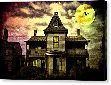 Old House At St Michael's Canvas Print by Bill Cannon