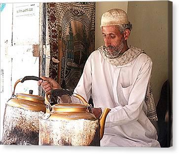 Old Ibb Tea Man Canvas Print
