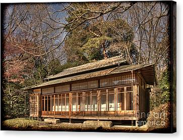 Old Japanese House In Autum Canvas Print