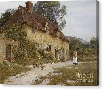 Old Kentish Cottage Canvas Print by Helen Allingham