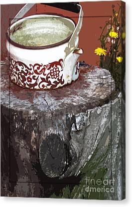 Old Kettle Canvas Print by Deborah Johnson