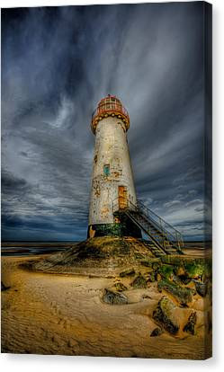 Old Lighthouse Canvas Print by Adrian Evans