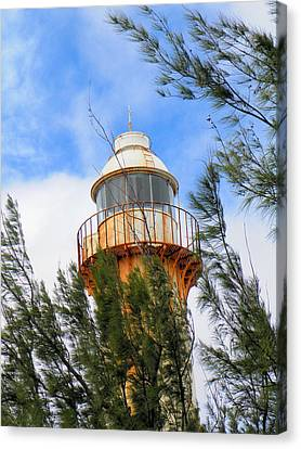 Old Lighthouse Grand Turk Island Canvas Print by Rosalie Scanlon