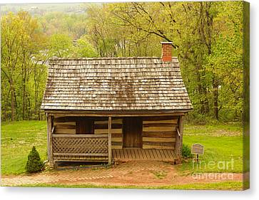 Old Log Cabin Canvas Print