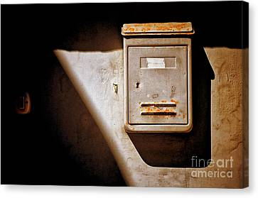Old Mailbox With Doorbell Canvas Print by Silvia Ganora