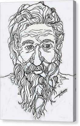 Old Man 2 Canvas Print by Johnson Moya