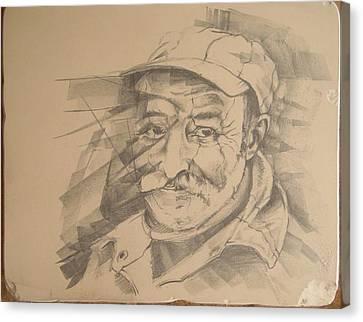 Old Man Canvas Print by Curt Sandu Viorel