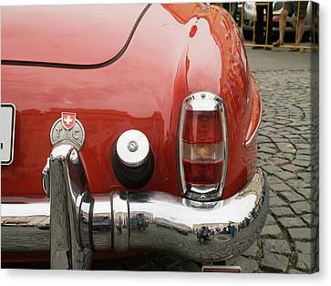 Old Mercede-benz Details Canvas Print by Odon Czintos