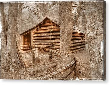 Old Mill Work Cabin Canvas Print by Dan Stone