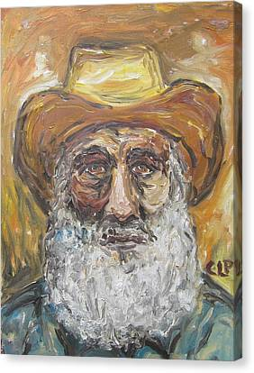 Old Miner From Victor Colorado Canvas Print