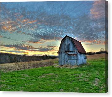 Canvas Print featuring the photograph Old Mines Barn by William Fields