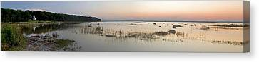 East Bay Canvas Print - Old Mission Point Lighthouse Panorama by Twenty Two North Photography