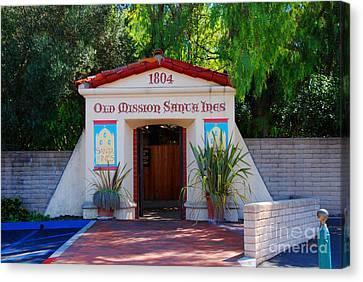 Old Mission Santa Ines Solvang California Canvas Print by Susanne Van Hulst