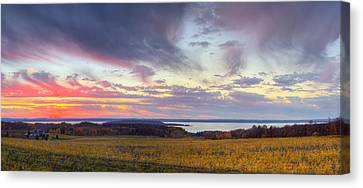 Old Mission Sunset Canvas Print
