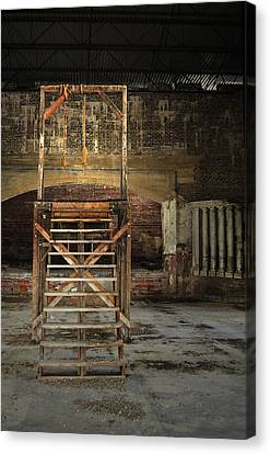 Canvas Print featuring the photograph Old Montana Prison by Fran Riley