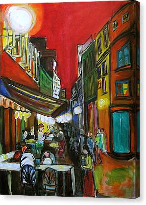 Old Montreal Canvas Print by Nathalie Fabri