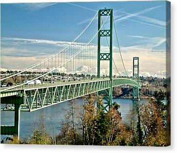 Canvas Print featuring the photograph Old Narrows Bridge by Rob Green