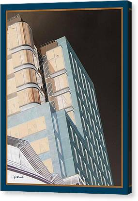 Old New 2 Wellington Nz Canvas Print by Gretchen Wrede