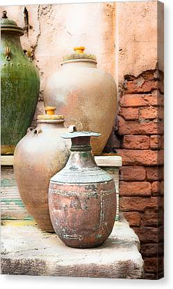 Survive Canvas Print - Old Pots by Tom Gowanlock