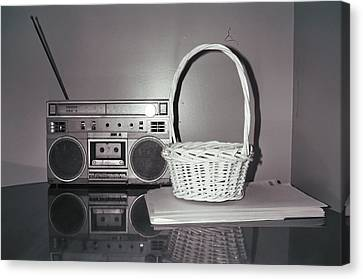 Old Radio And Easter Basket Canvas Print by Floyd Smith