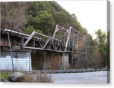 Old Railroad Bridge At Near Historic Niles District In California . 7d10759 Canvas Print by Wingsdomain Art and Photography