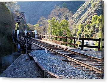 Old Railroad Bridge At Near Historic Niles District In California . 7d12743 Canvas Print