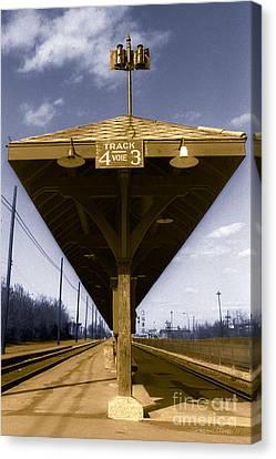Colourized Canvas Print - Old Railway Platform by Gordon Wood