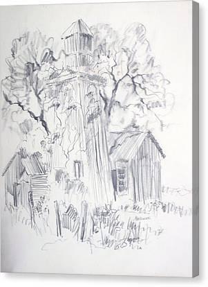 Old Ranch Tower Canvas Print by Bill Joseph  Markowski